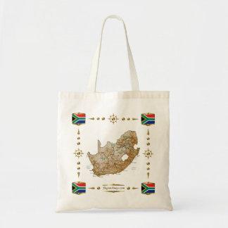 Carte de l'Afrique du Sud + Sac de drapeaux