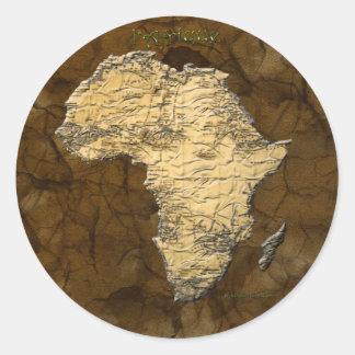 Carte de l'Afrique, le continent foncé Adhésifs Ronds