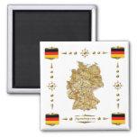 Carte de l'Allemagne + Aimant de drapeaux