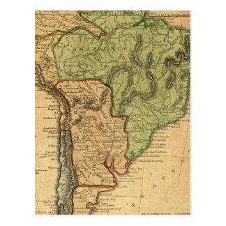 Carte de l'Amérique du Sud par Worcester