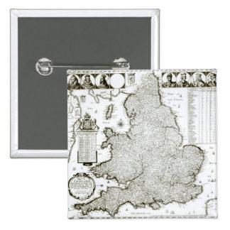 Carte de l'Angleterre et du Pays de Galles, 1644 Pin's