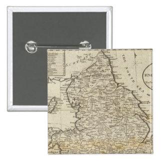 Carte de l'Angleterre et du Pays de Galles Badges