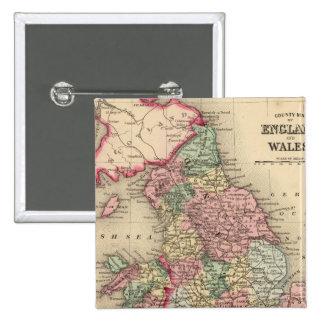 Carte de l'Angleterre, Pays de Galles par Mitchell Badge