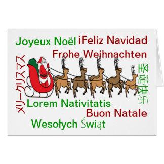 Carte de langues de Joyeux Noël