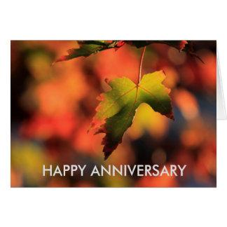 CARTE de l'anniversaire du congé d'automne du