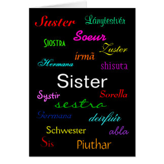 """""""Carte de l'anniversaire d'une soeur"""" - personnali"""