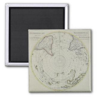 Carte de l'Antarctique 2 Magnet Carré