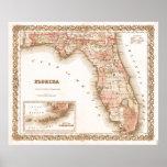 Carte de l'antiquité 1855 de la Floride