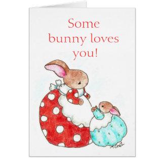 Carte de lapin du jour de mère -