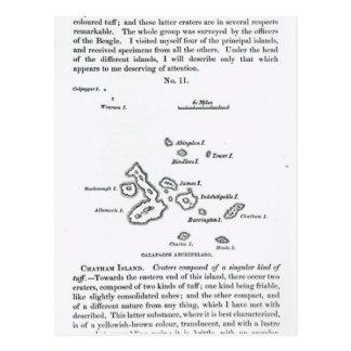 Carte de l'archipel de Galapagos, 1844