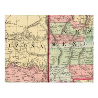 Carte de l'Arizona, Nouveau Mexique par Mitchell