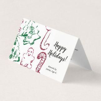 """Carte De """"l'art votre enfant va ici"""", Noël fait sur"""
