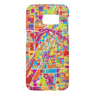 Carte de Las Vegas coloré, Nevada Coque Samsung Galaxy S7