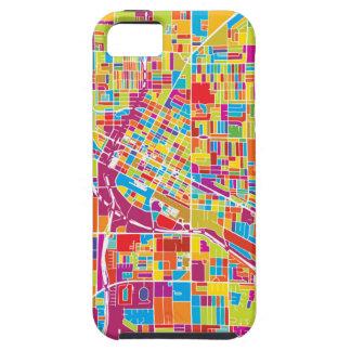 Carte de Las Vegas coloré, Nevada Coque Tough iPhone 5