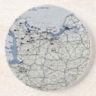 Carte de le jour J de la deuxième guerre mondiale  Dessous De Verres