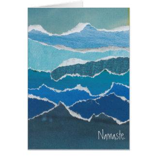 """Carte de l'eau bleue de """"Namaste"""" par l'artiste"""