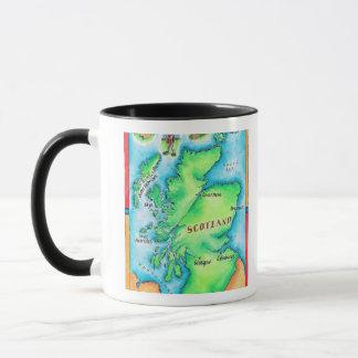 Carte de l'Ecosse Mug