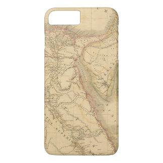 Carte de l'Egypte, de la Palestine et de l'Arabie Coque iPhone 7 Plus