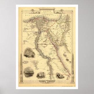 Carte de l'Egypte et de l'Arabie Petrea par Rapkin Posters