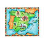 Carte de l'Espagne Cartes Postales