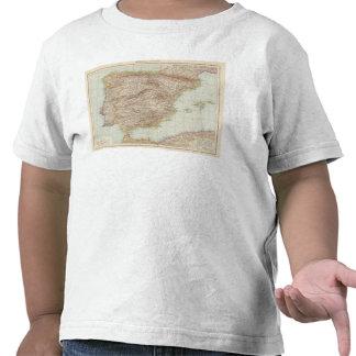 Carte de l'Espagne et du Portugal T-shirts