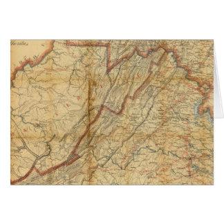 Carte de l'état de Virginie