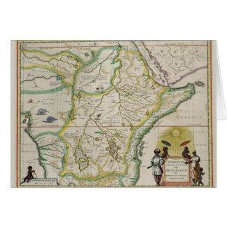 Carte de l'Ethiopie montrant cinq Etats africains