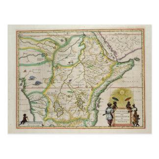 Carte de l'Ethiopie montrant cinq Etats africains Carte Postale