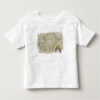 Carte de l'Ethiopie montrant cinq Etats africains T-shirt Pour Les Tous Petits