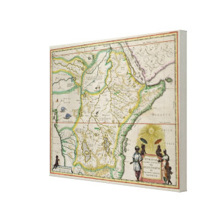 Carte de l'Ethiopie montrant cinq Etats africains Toiles