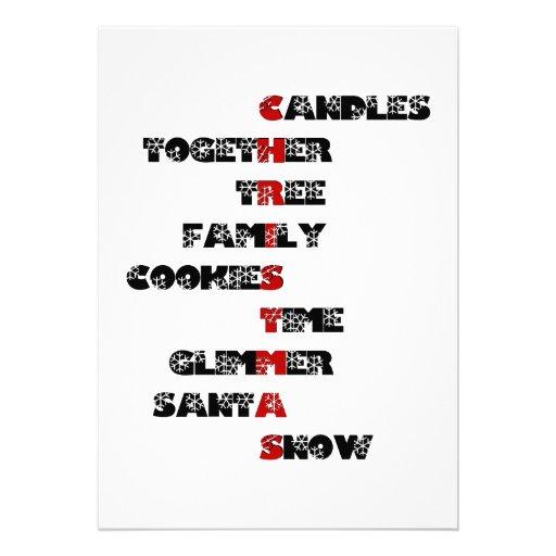 Carte de lettres de Noël très Joyeux Faire-part