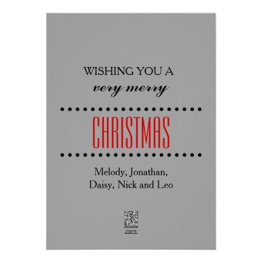 Carte de lettres de Noël très Joyeux Bristols Personnalisés