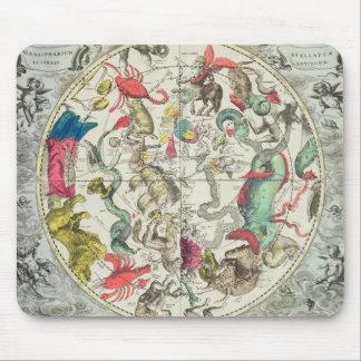 Carte de l'hémisphère sud tapis de souris