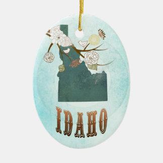 Carte de l'Idaho avec de beaux oiseaux Décorations De Noël