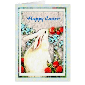 Carte de lièvres de lapin de lapin de Pâques