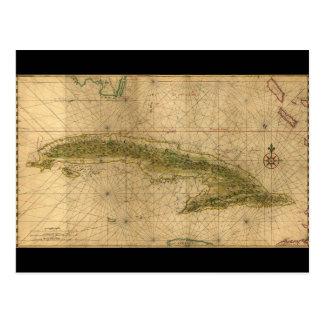 Carte de l'île du Cuba par Joan Vinckeboons 1639