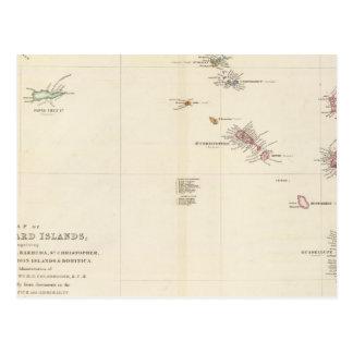 Carte de l'Îles-Sous-le-Vent Carte Postale