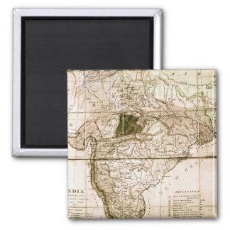 Carte de l'Inde, 1803 Magnet Carré