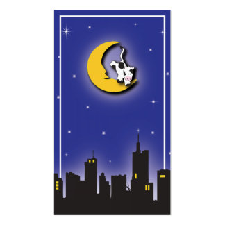 Carte de l'information de lune et d'étoiles | cartes de visite personnelles