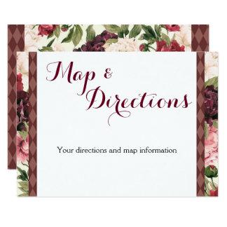 Carte de l'information de mariage de bouquet de