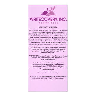 Carte de l'information de WRITECOVERY