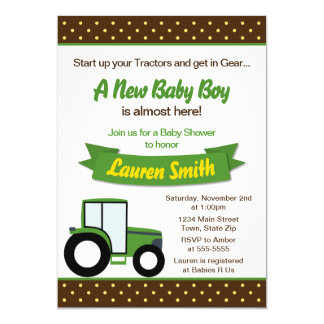 Carte de l'invitation 5x7 de baby shower de