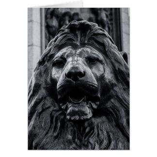 Carte de lion de bronze de carré de Trafalgar