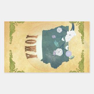 Carte de l'Iowa avec de beaux oiseaux
