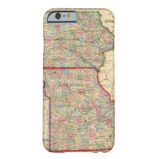 Carte de l'Iowa, Missouri par Mitchell Coque Barely There iPhone 6