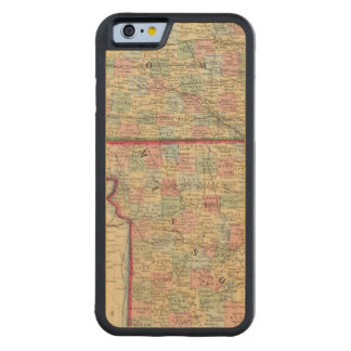 Carte de l'Iowa, Missouri par Mitchell Coque iPhone 6 Bumper En Érable