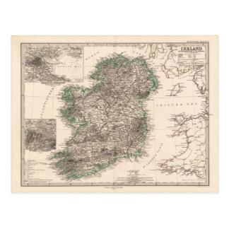 Carte de l'Irlande (1876) Cartes Postales