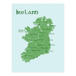 Carte de l'Irlande Cartes Postales