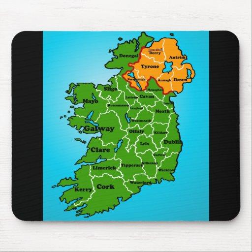 Carte de l 39 irlande comt s tapis de souris zazzle for Surface minimum bureau code du travail