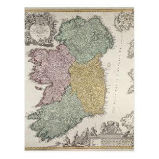 Carte de l'Irlande montrant les provinces d'Ulster